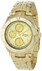 Armitron Men's 204224CHGP Gold-Tone Stainless Steel Multi-Function Dress Watch