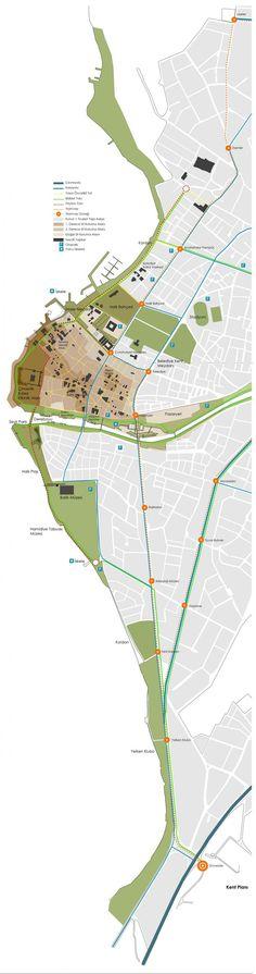 """1. Ödül - Çanakkale Belediyesi Kent Meydanı ve Çevresi Düzenlenmesi """"Yeşil"""" Kentsel Tasarım Proje Yarışması:"""