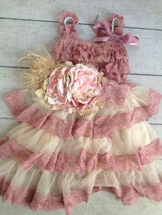 Dusty Rose Petticoat Dress - Cozette Couture