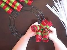 how to make curly deco mesh wreaths - Yahoo Video Search Results