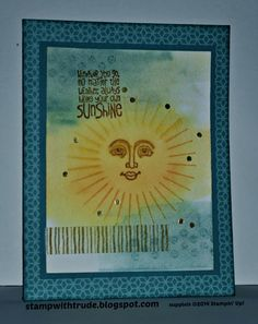 Stampin' Up! greeting card created by Trude Thoman with the Kinda Eclectic and Ray of Sunshine stamp sets http://stampwithtrude.blogspot.com