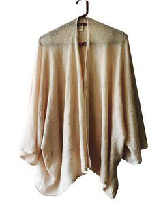 Kimono tejido, hueso #ResiduoZero #telarescatada #creamcolor #knitfabric #bohochic #madewithlove