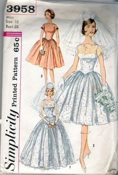 Vintage 1960's Simplicity 3958 Brides' and by Recycledelic1, $20.00