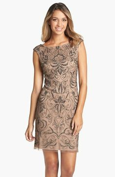 2cd93a90 Adrianna Papell Beaded Mesh Dress 1920s Formal Dresses, Cheap Dresses, Mob  Dresses, Prom