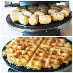 Tot waffles. Yeah, we just went there. | #WaffleWednesday #ParksandRec