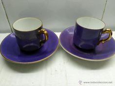 1927. Dos tazas de porcelana del hotel B. H. Field c.o. nueva york. porcelana bavaria