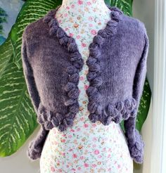 kate middleton's knitted shrug   ... ship Handmade knitted BOLERO with handspun angora yarn/ fit size SMALL