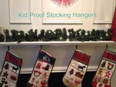 kid-proofing the stockings (read the explanation in the post)