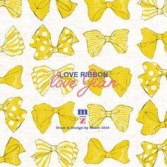 mizeedraw / ribbon / pattern / yellow