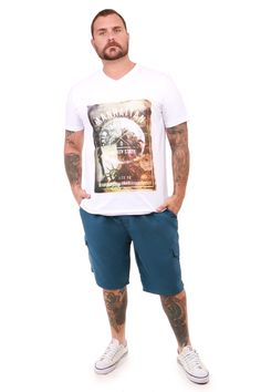 Camiseta com estampada Plus Masculina