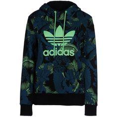 Adidas Originals Sweatshirt (121 290 LBP) ❤ liked on Polyvore featuring tops, hoodies, sweatshirts, deep jade, sweat shirts, floral sweatshirt, turtle neck tops, adidas originals sweatshirt y blue turtleneck