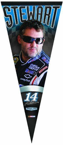 NASCAR Tony Stewart17-by-40 Inch Premium Quality Pennant by WinCraft. $19.99. WinCraft Premium Pennant is the new throwback to classic wool pennant. The soft felt pennant 17x40 is a full color and is durable enough to Roll it and Go when you're at the game, and it looks great when you get home.