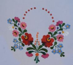 csokor1 Mexican Embroidery, Hungarian Embroidery, Folk Embroidery, Learn Embroidery, Embroidery Designs, Bordado Floral, Blackwork, Mexican Art, Applique Patterns