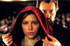 "#JessicaBiel as Sophie von Teschen and #EdwardNorton as Eisenheim in ""The Illusionist"" (2006)"