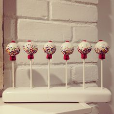 A personal favorite from my Etsy shop https://www.etsy.com/listing/127445779/12-gumball-machine-cake-pop