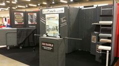 Our booth at the 201