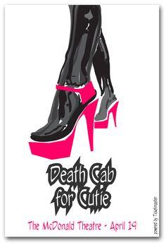 Death Cab For Cutie Poster Concert $9.84  #DCFC