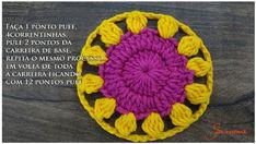 Cómo Tejer Flor Mandala Fácil Crochet / DIY | Paso a Paso Crochet Diy, Crochet Motif, Crochet Flowers, Crochet Hats, Crochet Curtains, Crochet Videos, Crochet Projects, Chokers, Stitch