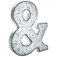 & Large Galvanized Metal Letter