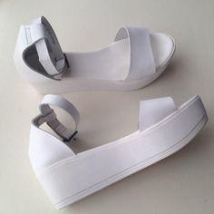 white flatform sandals topshop - Google Search