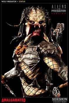 [SIDESHOW] Alien vs Predator: Requiem – Wolf Predator Statue