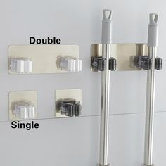 Buy The Magic Stick Strong Hook / Bathroom Mop Hanger / Bathroom Wall Nail-free Mop Clip Card Holder at Wish - Shopping Made Fun Broom Hanger, Hanger Rack, Bathroom Organisation, Wall Organization, Wall Nails, Book Cabinet, Mops And Brooms, Wall Mounted Hooks, Multi Usage