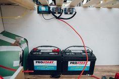 how to install house batteries promaster campervan conversion Van Conversion Campervan, Van Conversion Interior, Conversion Van, Build A Camper Van, Diy Camper, Motorhome, Ducato Camper, Diy Van Conversions, Campervan Interior