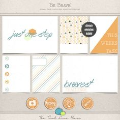 Quality DigiScrap Freebies: Be Brave journal cards freebie from The Teal Lime ...