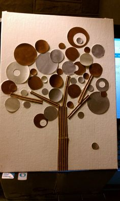 mixed media tree by Me