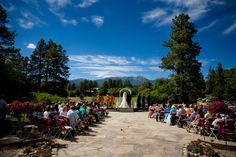 Backyard ceremony in the mountains