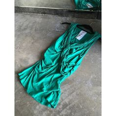 Anthropologie Draped Tank Top Tank top with draping. Made of 93% Cotton, 7% Spandex. Lightly worn. Color of green is much richer in person. Anthropologie Tops Tank Tops