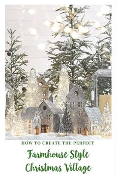 I love the look of galvanized metal! This Christmas village would be perfect for my farmhouse style decor. #Christmasdecor #holidaydecor #galvanized #farmhousestyle #farmhouseChristmas #afflink #ShopStyle #MyShopStyle