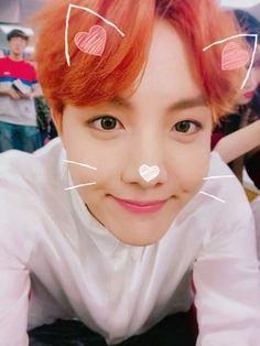 How adorable he is UwU Jung Hoseok, Seokjin, Namjoon, Taehyung, Gwangju, J Hope Tumblr, Rapper, Kpop, Bts J Hope