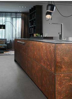 Kupfer, Küche, Trend, Küchentrend, Modern, Design, Kücheninsel, Kochinsel,