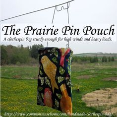 Prairie Pin Pouch Handmade Clothespin Bag Review and Giveaway