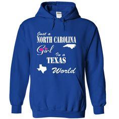 North Carolina Girl in a Texas World T-Shirts, Hoodies. VIEW DETAIL ==► https://www.sunfrog.com/States/North-Carolina-Girl-in-a-Texas-World-gyqyuhnycl-RoyalBlue-10654223-Hoodie.html?id=41382