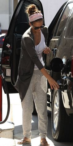 Sooo many re-pins! Let's face it us gals love sweatpants.... I have a similar style like this from h&m.