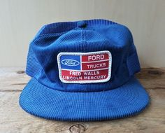 a7ee0f6c23b09 Vintage 80s FORD TRUCKS Corduroy Mesh Trucker Hat Snapback Cap K-Products  Canada