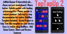 TapTapUp2   Leaderbords   admob ads   BuildboxTemplate (new clean version) by AMNOSTUDIO Tap Tap Up is an endless cool android game. You can easily reskin this game using Eclipse or Android Studio. You have just to change some assets and you are ready to upload it. New clean version : -AdMob Banner & Interstitial ads