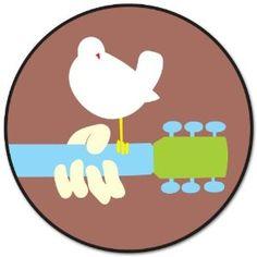 "Woodstock Peace & Love Music car sticker decal 4"" x 4"""