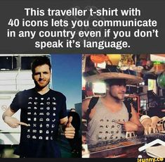 Travel Discover bucket list funny Traveller Shirt allows you to communicate in any country even if you dont speak the language Travel Shirts Just Dream Wtf Fun Facts Fascinating Facts Looks Cool Good To Know Places To Travel Just In Case Things I Want Life Hacks, Travel Shirts, Just Dream, Wtf Fun Facts, Amazing Science Facts, Fascinating Facts, Adventure Is Out There, Looks Cool, Good To Know