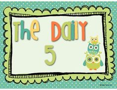 FREE--This is a crafty Owl Themed set of Daily 5 Posters and Anchor Charts.  It is meant to be used with the book