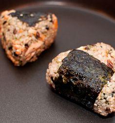 Grilled Salmon Onigiri (お握り) with recipe