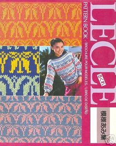 LECLE Pattern Book for Silver Machine Knitting Institute Knitting Patterns Free, Stitch Patterns, Free Pattern, Machine Service, User Guide, Pli, Pattern Books, Projects To Try, This Book