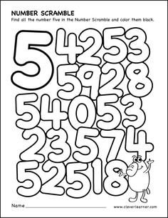 number scramble colouring sheets for kidsroll the dice and Number 4 Find And Color Worksheet Learning Numbers Preschool, Preschool Activities At Home, Preschool Printables, Preschool Lessons, Kindergarten Worksheets, Color Worksheets For Preschool, Tracing Worksheets, Numbers For Kids, Math Numbers