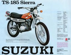 1975-SUZUKI-TS185-VINTAGE-MOTORCYCLE-POSTER-PRINT-28x36