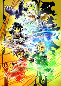 "I drew a main graphic for Comic fair (small-scale Dojinshi fair) of Ninjago in Japan May 3, 2016. The fair title is ""ニンジャは絶対あきらめない!"" ""Ninja wa zettai akiramenai!"" (mean: Ninjas never give up!) This became a wonderful memory for me. (*´∀`*)"