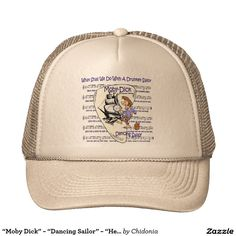 "bb4675a0738 ""Moby Dick"" ~ ""Dancing Sailor"" ~ ""Herman Melville"" Trucker Hat | Zazzle.com"