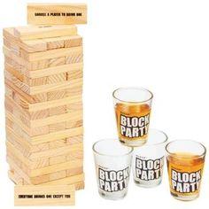 Adult Block Party Drinking Game Shot Glasses Bar Jenga Skill Drunken Tower 21+  #Maxam