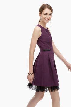 Vestido ladylike en tafetán con strass - graphic bohemian | Adolfo Dominguez shop online